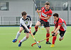29 March 2014. Hockey play-offs at Glasgow Green.<br /> Grove Menzieshill v Edinburgh University