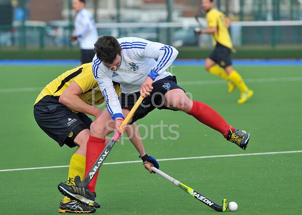 29 March 2014. Hockey play-offs at Glasgow Green.<br /> AAM Gordonians v Watsonians