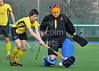 29 March 2014. Hockey play-offs at Glasgow Green.<br /> AAM Gordonians v Watsonians