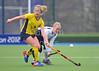 30 March 2014. Hockey play-offs at Glasgow Green.<br /> <br /> Gordonians Merlins v Hillhead Ladies