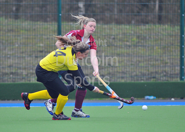 30 March 2014. Hockey play-offs at Glasgow Green.<br /> Kelburne Ladies v Watsonians Ladies