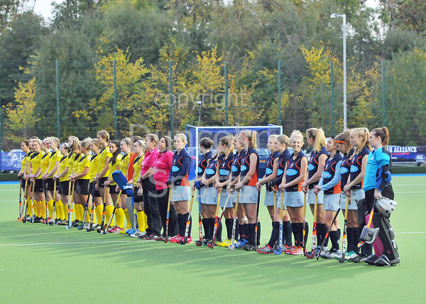 Western Ladies v Kelburne. A National League Division 1 match at the National Hockey Centre, Glasgow Green, on 20 October 2013.