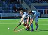 18 April 2015. National Hockey Centre, Glasgow Green<br /> Men's Scottish Plate Final - PSL Team Sport Clydesdale v Falkirk GHG