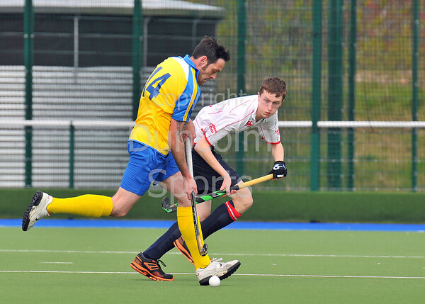 19 April 2015. National Hockey Centre, Glasgow Green<br /> Men's District Plate Final: Western Wildcats II v Perthshire