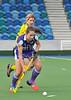 2 May 2015, National Hockey Stadium, Glasgow Green. Scottish Division 1 Play-off match 1st Leg. Kelburne v Inverleith