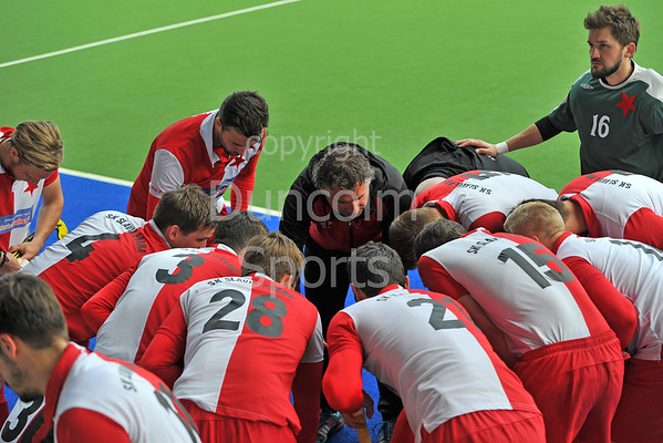 16 May 2016 at the National Hockey Centre, Glasgow Green, Scotland.<br /> Eurohockey Club Champions Trophy 2016 Men, Day 4.<br /> Bronze Medal Match: Bromac Kelburne (SCO) v SK Slavia Prague (CZE)