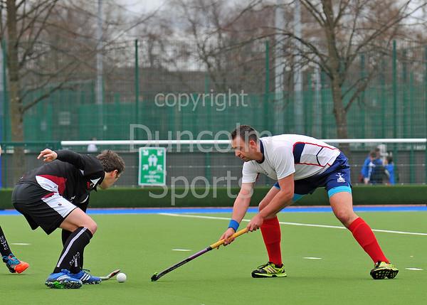 2 April 2016 at the National Hockey Centre, Glasgow Green.<br /> Scottish Hockey Men's Finals Day<br /> Scottish Plate Final<br /> Granite City Wanderers v Falkirk GHG