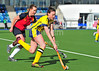16 April 2016 at the National Hockey Centre, Glasgow Green. National League play-off game, leg 1, Erskine Stewarts Melville v Grange EL