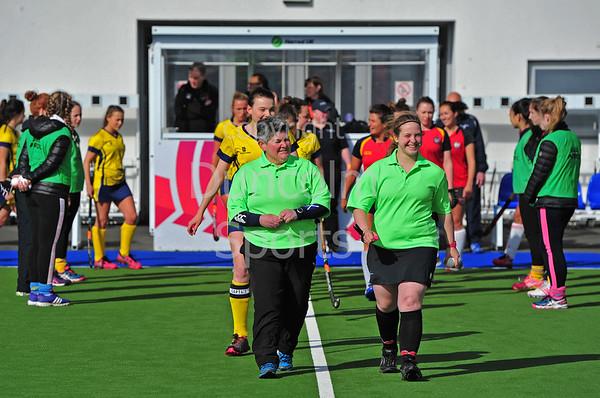 16 April 2016 at the National Hockey Centre, Glasgow Green. National League play-off game, leg 1, Erskine Stewarts Melville v Grange EL
