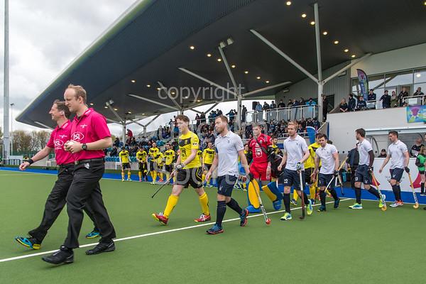 29 April 2017 at the National Hockey Centre, Glasgow Green. <br /> Scottish Hockey Men's Scottish Cup Final - Grange v Kelburne