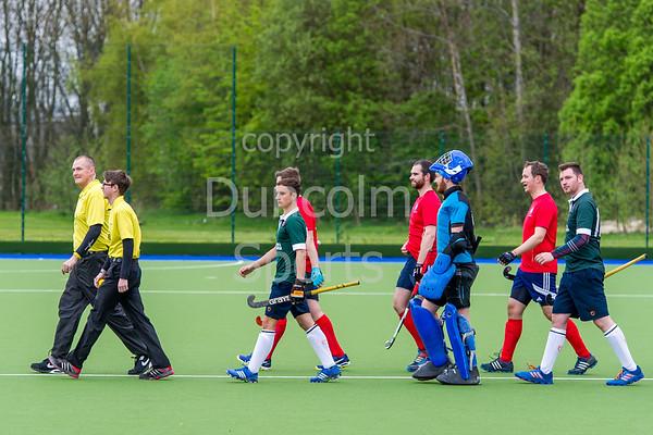 29 April 2017 at the National Hockey Centre, Glasgow Green. <br /> Scottish Hockey Men's District Plate Final - Edinburgh University 2 v Erskine Stewarts Melville FP 2