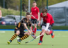 29 April 2017 at the National Hockey Centre, Glasgow Green. <br /> Scottish Hockey Men's Reserve Cup Final - Hillhead 3's v Grange 3
