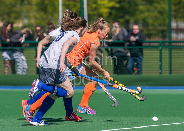 6 May 2017 at Old Anniesland, Glasgow. Scottish Hockey play-off match - Clydesdale Western v Grove Menzieshill