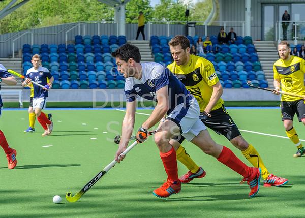 12 May 2018 at the National Hockey Centre, Glasgow Green. Scottish Hockey  play-off match - Kelburne v Grove Menzieshill