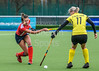 28 October 2017 at t he National Hockey Centre, Glasgow Green. Scottish National League Division 1 game -  Kelburne v Western Wildcats