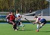 13 April 2019 at the National Hockey Centre, Glasgow Green. Scottish Hockey Grand Finals day.<br /> Men's relegation/promotion match – Watsonians v Dunfermline Carnegie