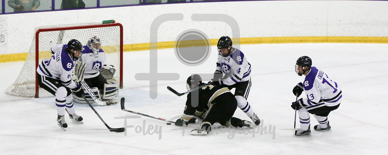 Holy Cross goalie Paul Berrafato