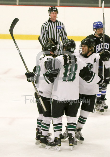 Nichols College celebrates a goal