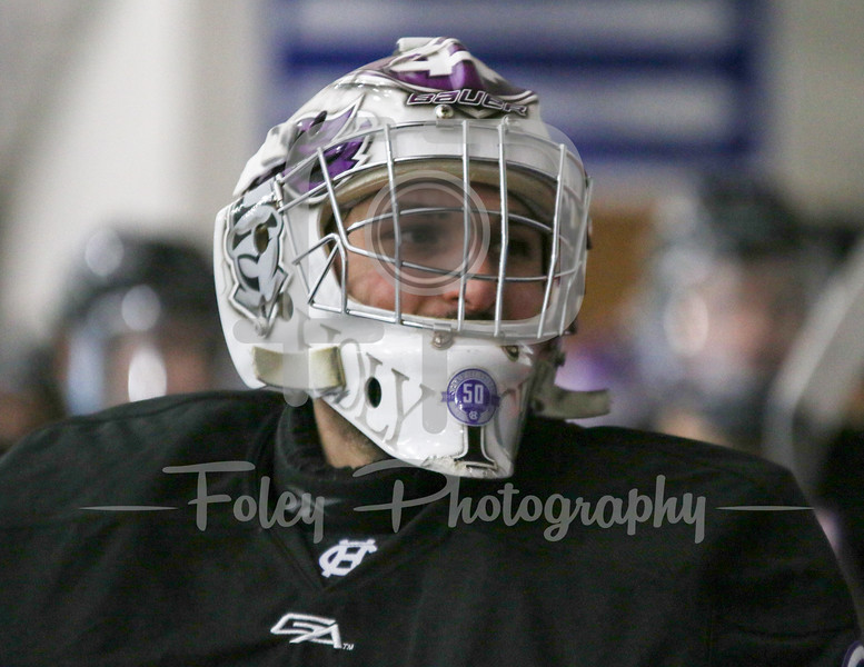 Holy Cross Crusaders goalie Paul Berrafato (36)