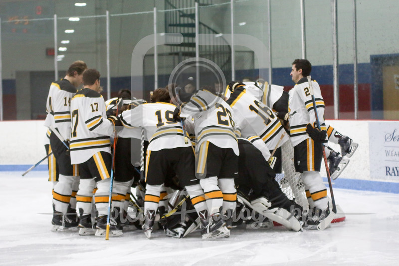 American International Yellow Jackets Team Huddle