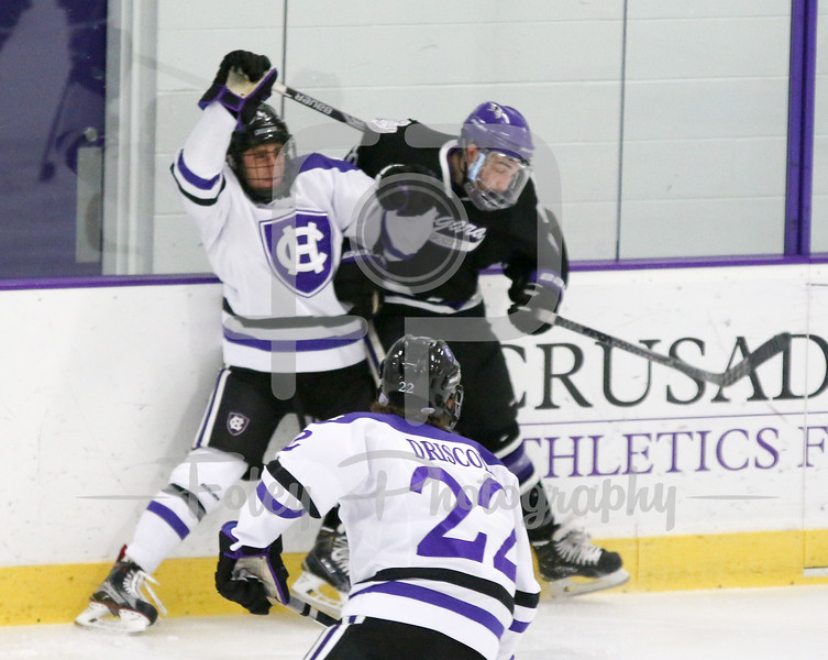 A battle along the boards
