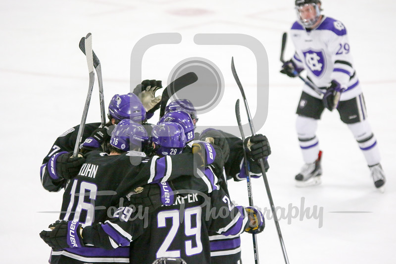Niagara celebrates a goal
