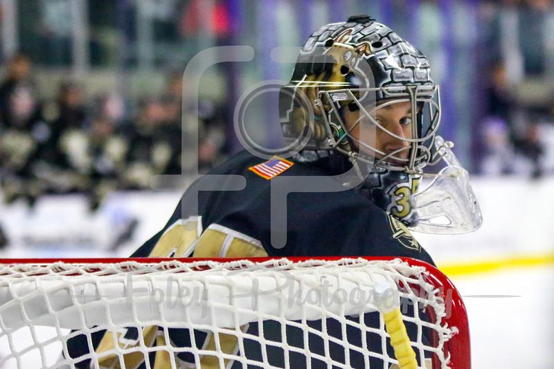 Army West Point Black Knights goalie Parker Gahagen (35)