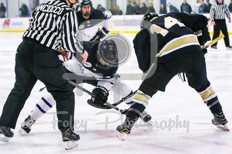 Army West Point Black Knights forward Brendan Soucie (14) Holy Cross Crusaders forward Michael Laffin (11)