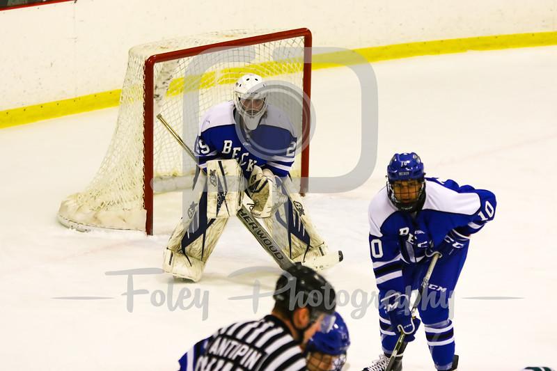 Becker College goalie Tyler Stepke (29)