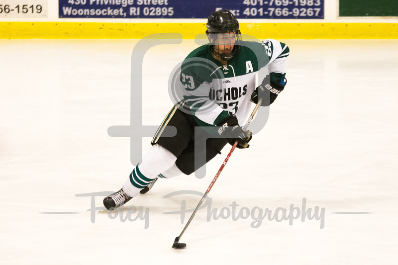 Nichols College forward Scott Cuthrell (23)