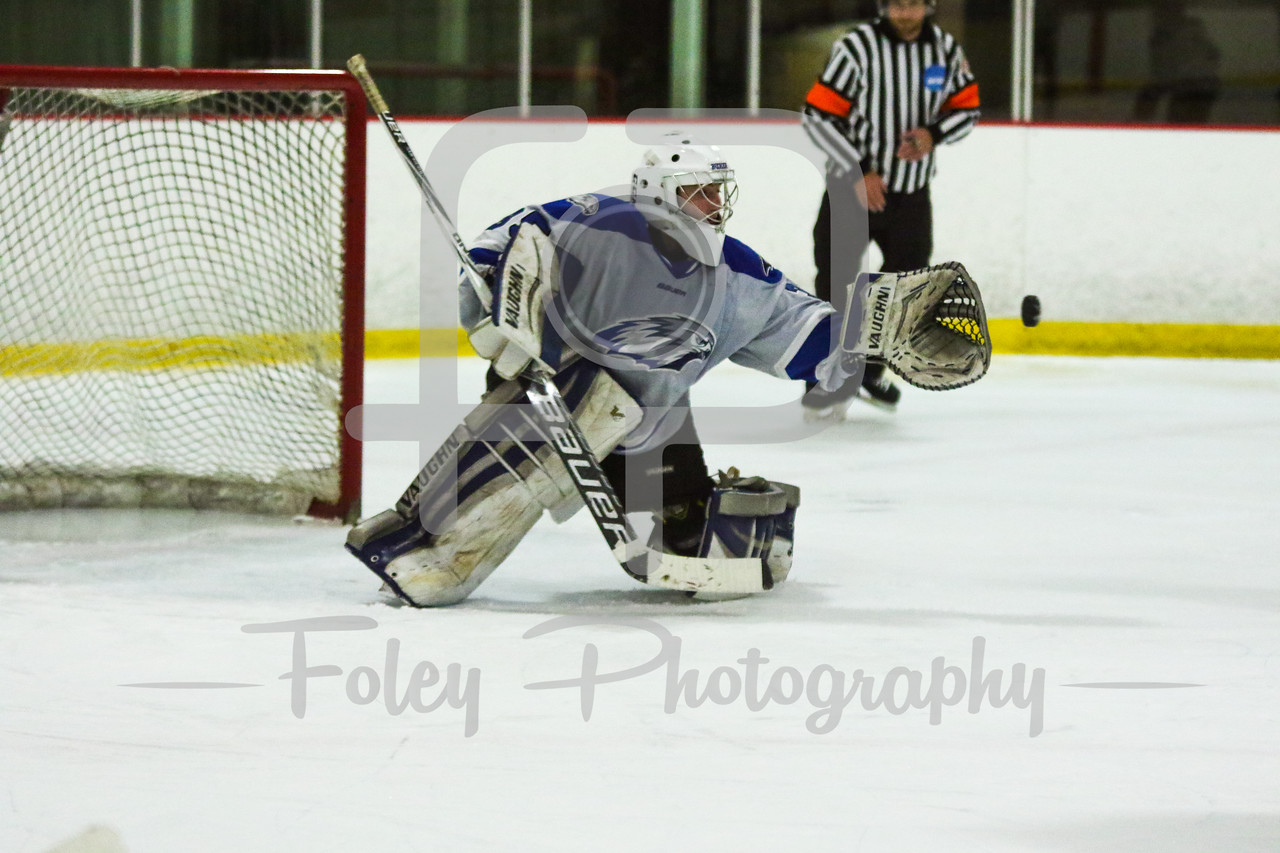 Becker College Hawks goalie Julia Johnson (35)