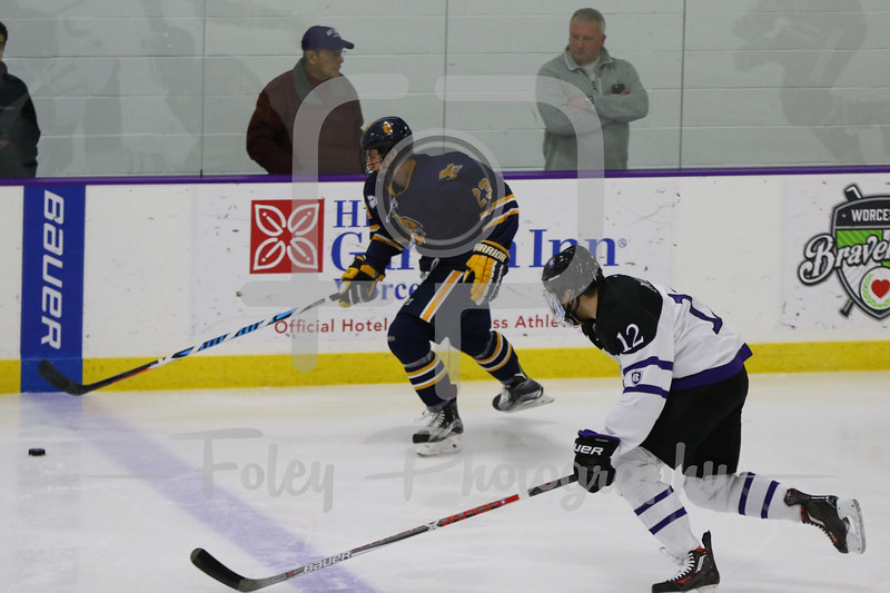 Canisius Golden Griffins forward Casey Jerry (23) Holy Cross Crusaders forward Scott Pooley (12)