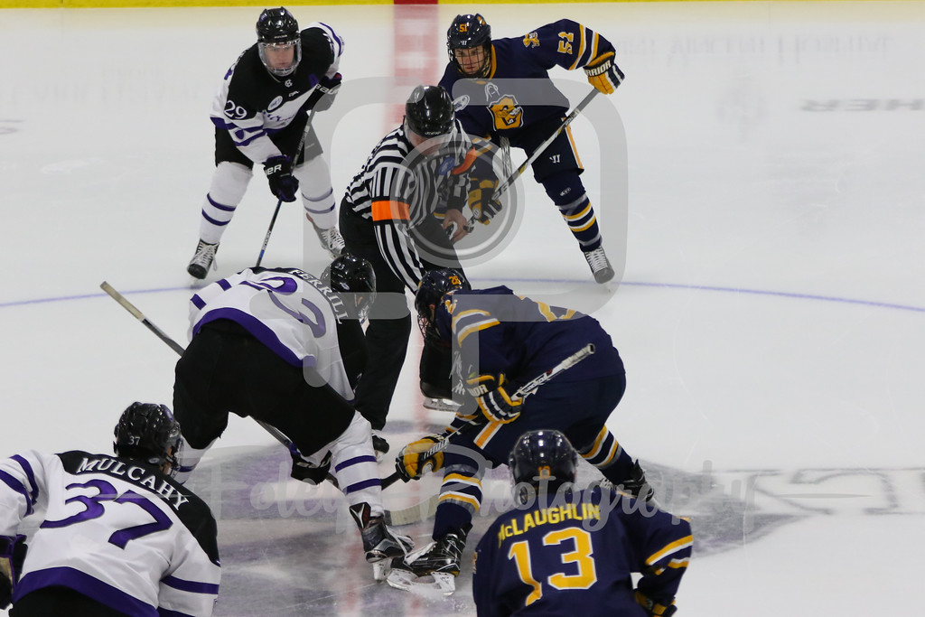 Holy Cross Crusaders forward Danny Lopez (27) Canisius Golden Griffins forward Ryan Schmelzer (26)