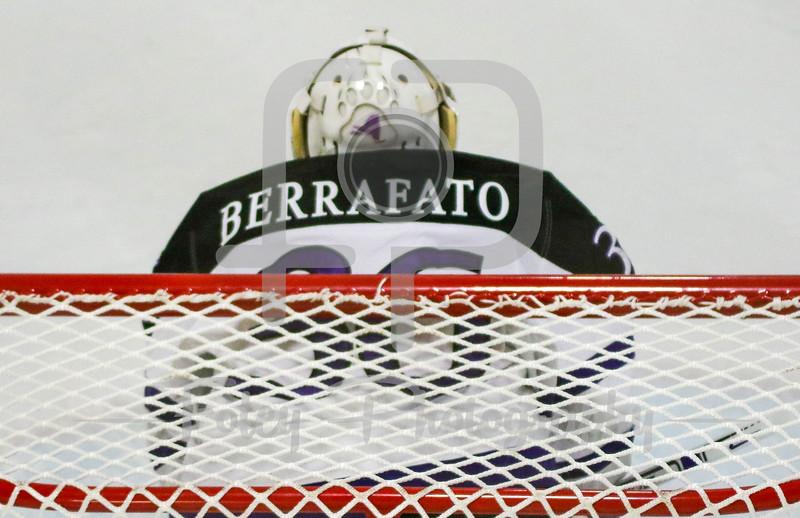 Holy Cross Crusaders goalie Paul Berrafato (36)