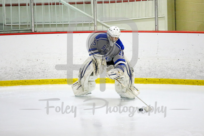 Becker College Hawks goalie Tyler Stepke (29)