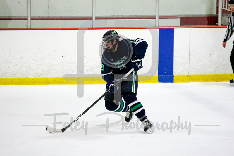 Endicott College Gulls defenseman Logan Day (19)