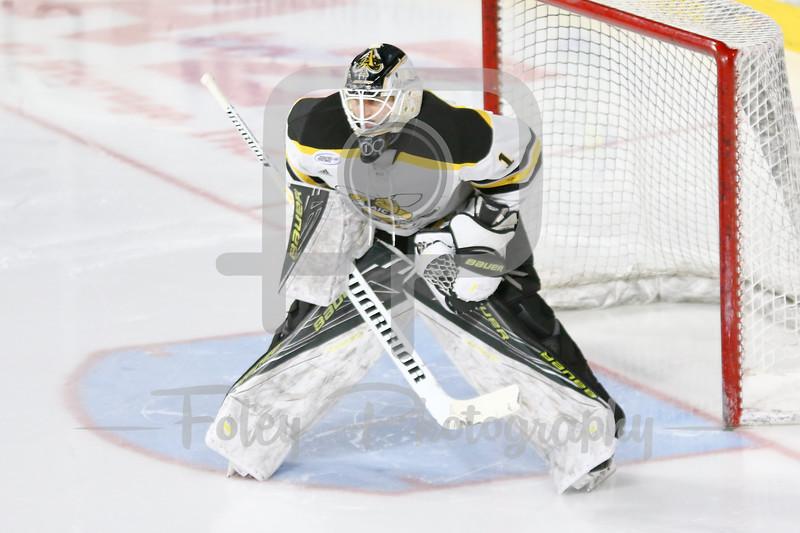 American International Yellow Jackets goalie Zackarias Skog (1)