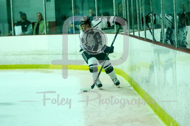Bentley Falcons defenseman Charlie Donners (15)