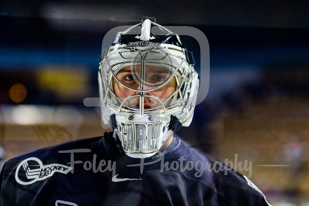 Providence Friars goalie Kris Carlson (30)