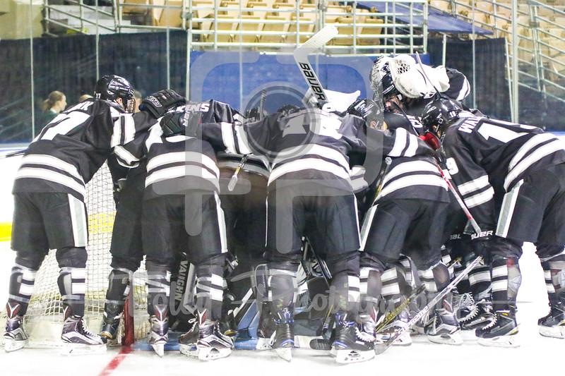 Providence Friars Ice Hockey Team Huddles