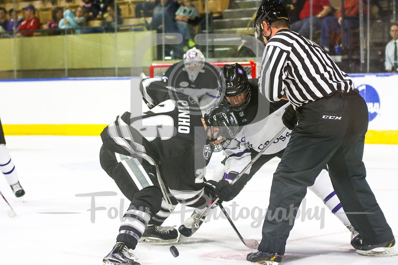 Providence Friars forward Brian Pinho (26) Holy Cross Crusaders forward Ryan Ferrill (23)