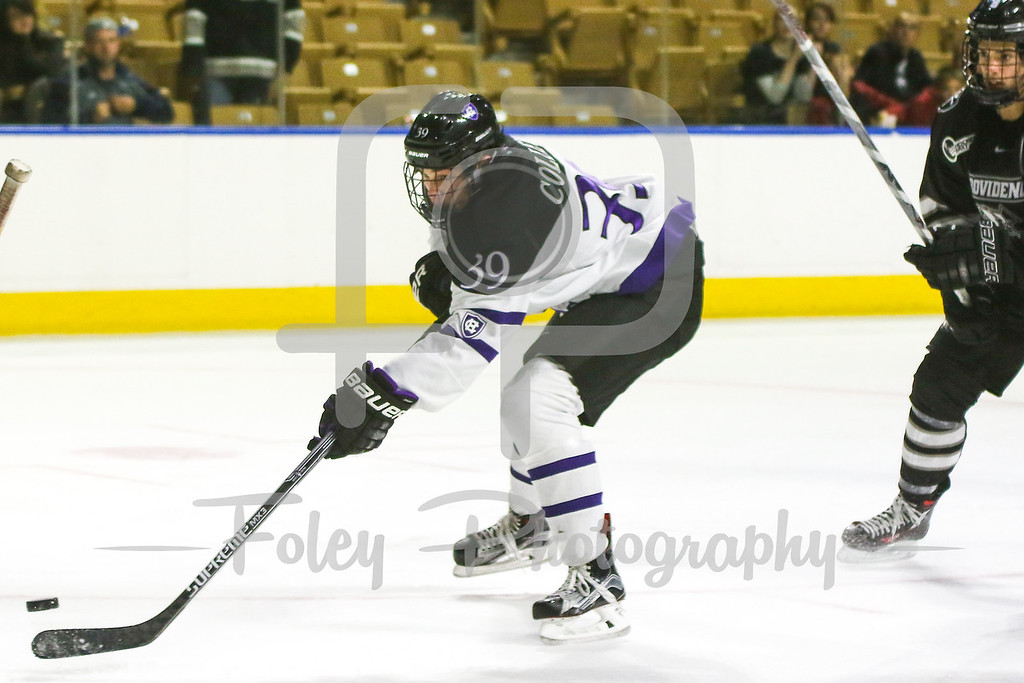 Holy Cross Crusaders forward Mitch Collett (39)