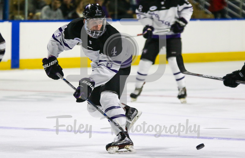 Holy Cross Crusaders defenseman Dalton Skelly (4)