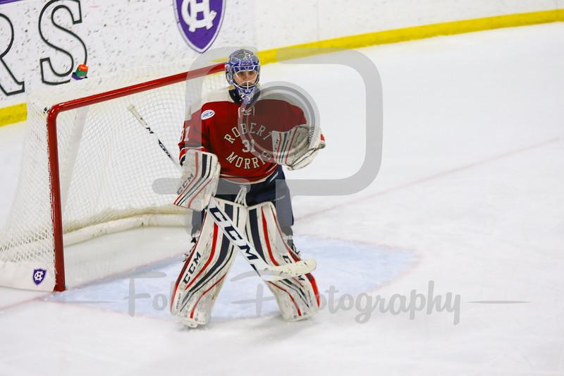Robert Morris Colonials goalie Dalton Izyk (31)
