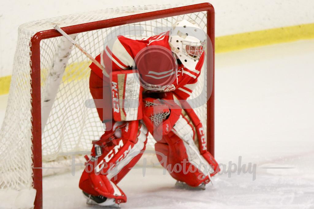 Royal Military College of Canada goalie Michael Desgroseillers (31)