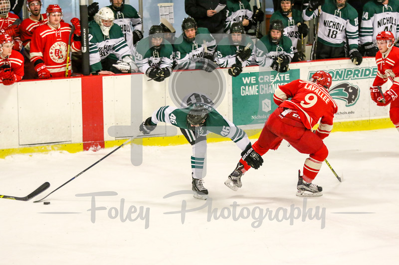 Royal Military  College of Canada Mathieu Lavallee (9) Nichols College Blake Kelley (46)
