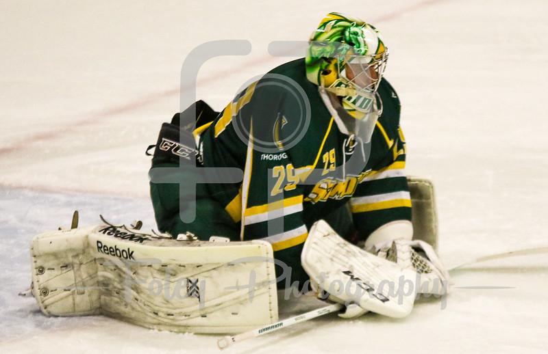 Skidmore College goalie Jack McDonald (29)