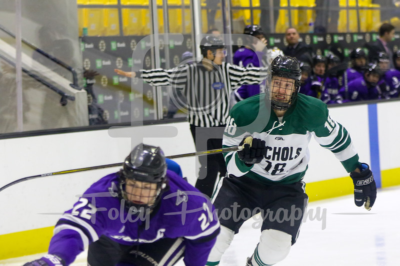 Friday, January 6, 2017; Boston, MA;  during the Bison 5-2 win over the Skyhawks during the Boston Landing Tournament at the Warrior Ice Arena.