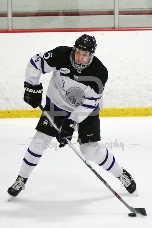 Holy Cross defenseman Spencer Trapp (5)