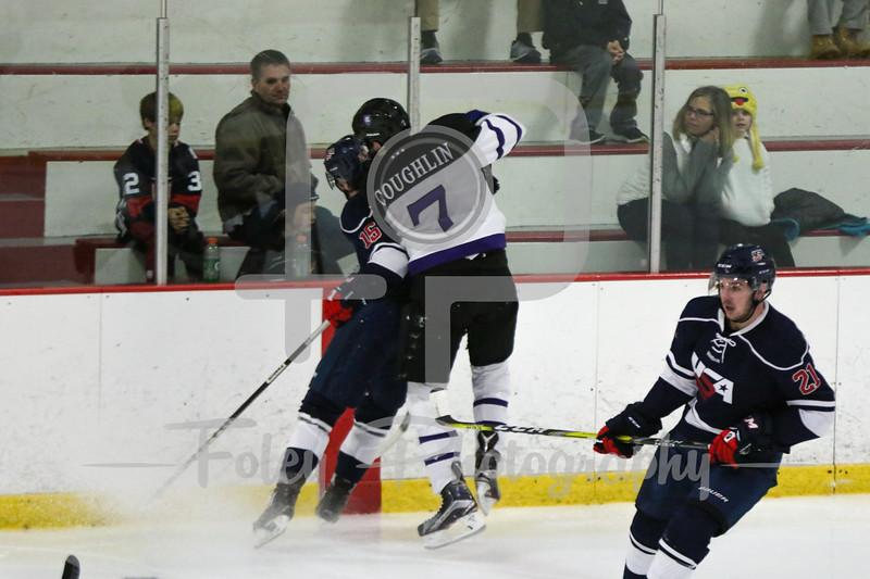 USA Hockey National University Team Michael Cummings Holy Cross defenseman Johnny Coughlin (7)
